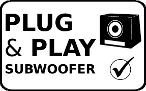 Plug and Play Subwoofer Ready Feature