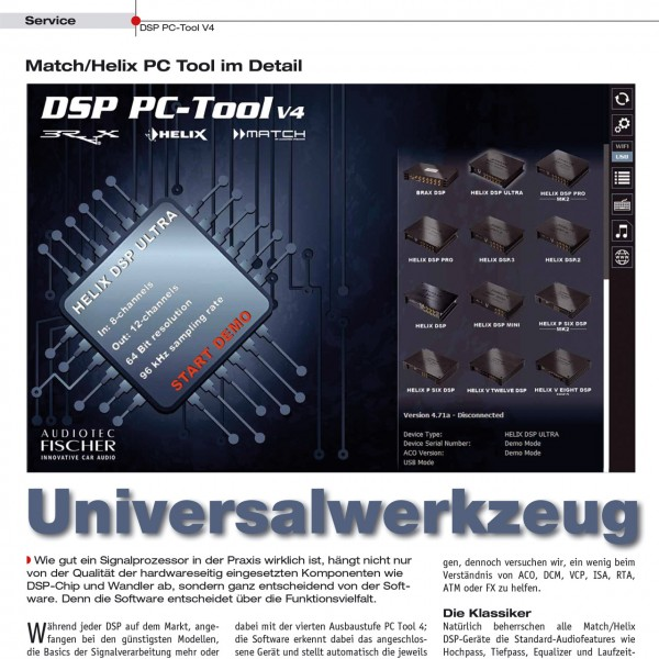 Universalwerkzeug – DSP PC-Tool V4