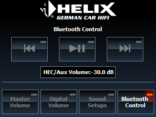 The DIRECTORs Bluetooth control menu